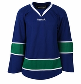 Vancouver Canucks Reebok Edge Gamewear Uncrested Junior Hockey Jersey