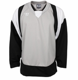 Warrior Lightning KH300 Sr. Hockey Jersey - Silver/Black/White