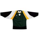 Warrior Lightning KH300Y Jr. Hockey Jersey - Dark Green/Gold/Black