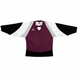 Warrior Lightning KH300Y Jr. Hockey Jersey - Maroon/Black/White
