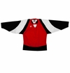 Warrior Lightning KH300Y Jr. Hockey Jersey - Scarlet/Black/White