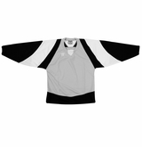 Warrior Lightning KH300Y Jr. Hockey Jersey - Silver/Black/White