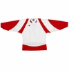 Warrior Lightning KH300Y Jr. Hockey Jersey - White/Scarlet/White