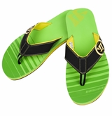 Warrior Riot Thong Sandals - Black/Green '13 Model