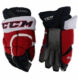 Washington Capitals CCM 12 Pro Stock Hockey Gloves - Gleason