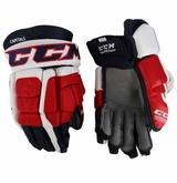 Washington Capitals CCM 3 Pro Stock Hockey Gloves