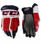 Washington Capitals CCM 3 Pro Stock Hockey Gloves - Chimera