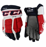 Washington Capitals CCM 3 Pro Stock Hockey Gloves - Latta #46
