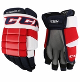 Washington Capitals CCM 4R Pro Stock Hockey Gloves - Glencross #22