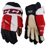Washington Capitals CCM TK Pro Stock Hockey Gloves - Carrick