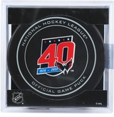 Washington Capitals 40th Anniversary Official  NHL Game Puck with Cube