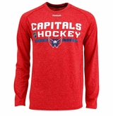 Washington Capitals Reebok Center Ice Locker Room Sr. Long Sleeve Performance Shirt