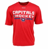 Washington Capitals Reebok Center Ice Locker Room Sr. Short Sleeve Performance Shirt