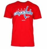Washington Capitals Reebok Face-Off Carbon Logo Sr. Short Sleeve Tee Shirt