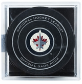 Winnipeg Jets Official NHL Game Puck with Cube