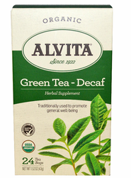 Alvita Tea's Chinese Green Tea, Caffeine Free 24Bags