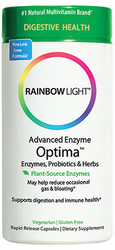 Rainbow Light's Advanced Enzyme Optima w/ Prebiotics & Probiotics 90 Vcaps