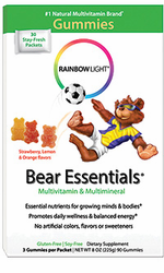 Rainbow Light's Gummy Bear Essentials Multi-Vit & Multi-Min 30Pkts
