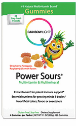 Rainbow Light's Gummy Power Sours Multi-Vit & Multi-Min 30Pkts