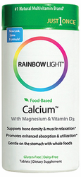 Rainbow Light's Just Once Food Based Calcium 90Tabs
