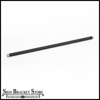 "1/2"" Dia. x 24"" Galvanized Steel Arm Extension - Black"