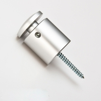 "1"" OD Satin Aluminum Tamper Resistant Stand-off Kit with 1"" tall barrel"