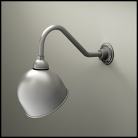 "10"" Domed Shade Gooseneck Lighting"