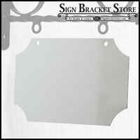 "10"" Traditional Sign Blank - Aluminum"
