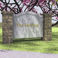 "112""W x 54""H x 20""D Stone Monument Sign"
