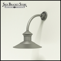 "12"" Barn Light Shade w/ Gooseneck Arm Extension - 10"" x 3/4"" Dia. Arm"