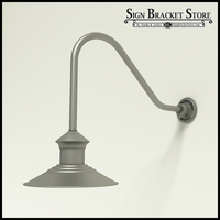 "12"" Barn Light Shade w/ Gooseneck Arm Extension - 22.25"" x 1/2"" Dia. Arm"