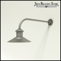 "12"" Barn Light Shade w/ Gooseneck Arm Extension -  23"" x 3/4"" Dia. Arm"