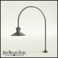 "12"" Barn Light Shade w/ Gooseneck Arm Extension - 27.5"" x 3/4"" Dia. Arm"