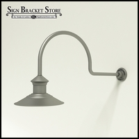 "12"" Barn Light Shade w/ Gooseneck Arm Extension - 29.75"" x 3/4"" Dia. Arm"
