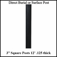 12' Square Aluminum Post