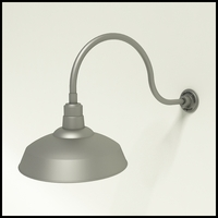 "12"" Warehouse Shade Gooseneck Lighting"