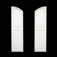 "12"" Wide Arched Top Raised Panel Shutter (Composite PVC - Pair)"
