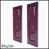 "12"" Wide Painted Cedar Three Equal Panel Design Exterior Shutter Pair"