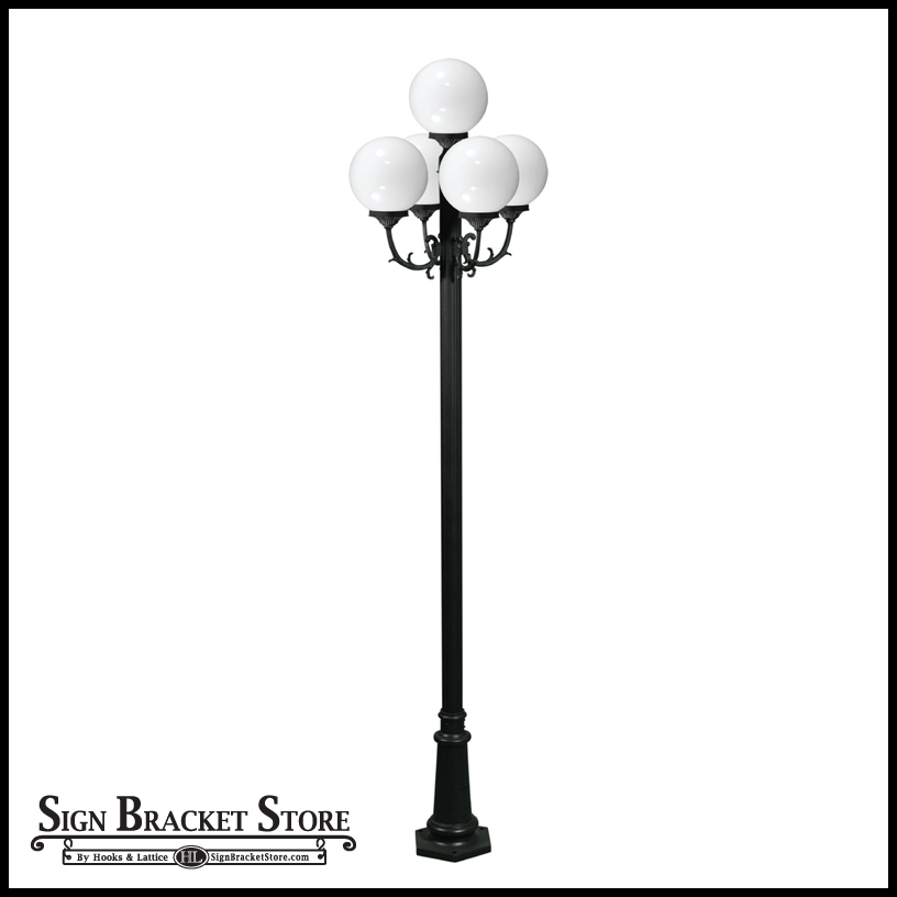 Globe Street Light, 5 Lamps