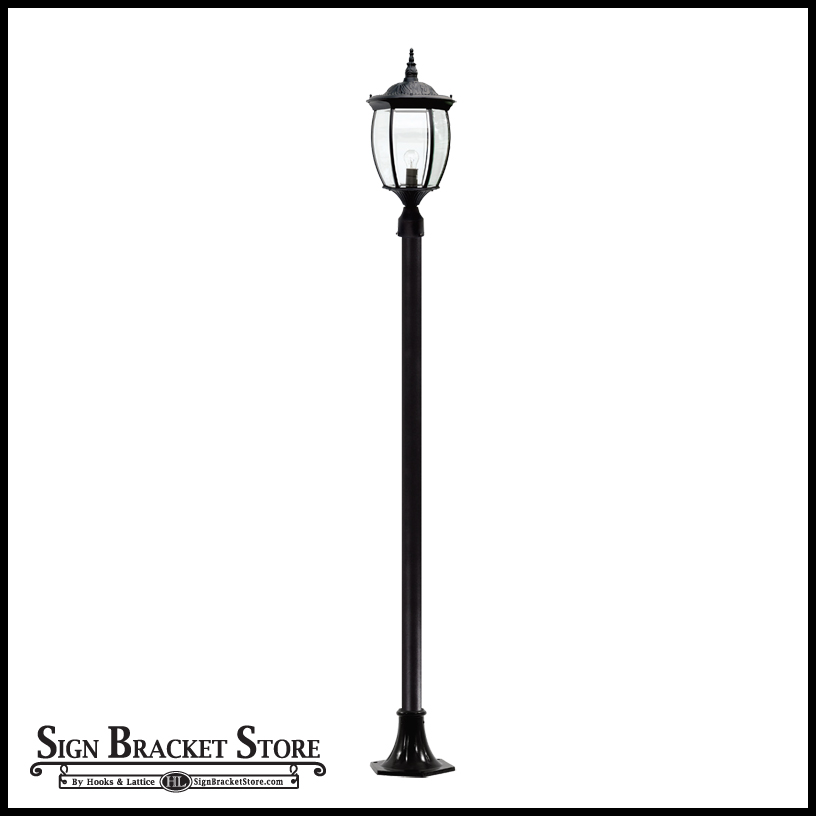 Outdoor lamp post 120v powder coated cast aluminum victorian outdoor