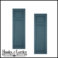 12in. Wide Classic Collection Raised 2 Unequal Panel Shutters (pair)