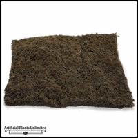 12in. Square Moss Mat, Brown