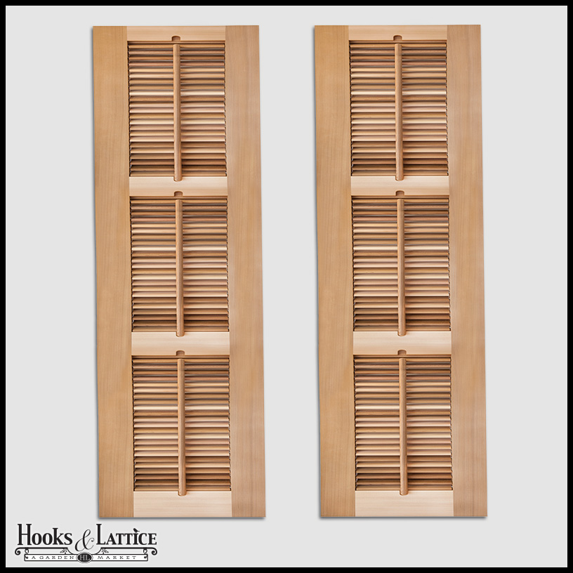 Louvered large shutters panels outdoor hooks lattice for Exterior plantation shutters
