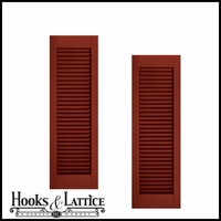 12in. Wide - Architectural Collection Fixed Louvered Composite Fiberglass Shutters (pair)