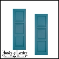 12in. Wide Classic Collection Raised 3 Equal Panel Shutters (pair)