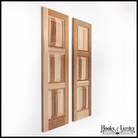 12in. Wide Cedar Three Equal Panel Design - Exterior Shutter Pair