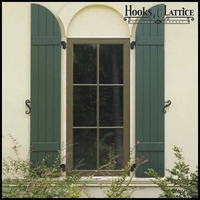 12in. Wide with 3 Boards and Arched Top - Classic Collection Composite Board & Batten Shutters (pair)