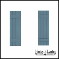 12in. Wide with 4 Boards - Classic Collection Composite Board & Batten Shutters (pair)