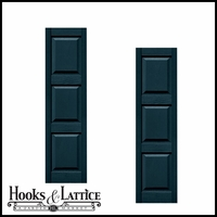 "14 1/2"" Wide Three Equal Panel Shutters (Custom Product) - Pair"