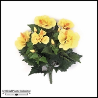 14in. Hibiscus Bush - Yellow|Indoor - NFR